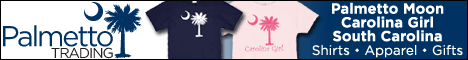 Palmetto Moon T-Shirts, Carolina Girl Apparel, and South Carolina Shirts at Palmetto Trading