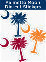 South Carolina Palmetto Moon die-cut stickers