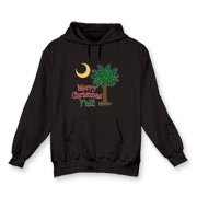 Buy a Merry Christmas Y'all Palmetto Moon Hooded Sweatshirt and have a Merry Christmas, y'all, in South Carolina style.