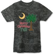 Buy a Merry Christmas Y'all Palmetto Moon Alternative Apparel Burnout T-Shirt 		 and have a Merry Christmas, y'all, in South Carolina style.