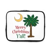 Buy a Merry Christmas Y'all Palmetto Moon iPad Sleeve and have a Merry Christmas, y'all, in South Carolina style.
