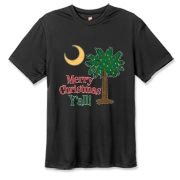 Buy a Merry Christmas Y'all Palmetto Moon Hanes Cool Dri T-shirt and have a Merry Christmas, y'all, in South Carolina style.