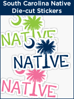 South Carolina Palmetto Moon Native die-cut stickers