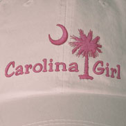 Embroidered Carolina Girl