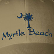 Embroidered South Carolina Palmetto Cities