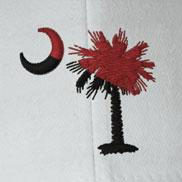 Two Color Embroidered Palmetto